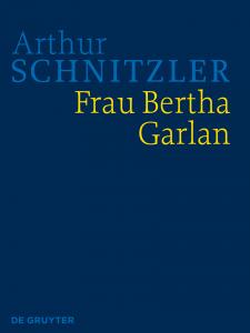 Cover HKA Arthur Schnitzler: Frau Bertha Garlan